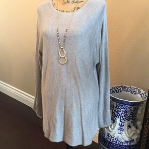 Joan Vass Studio gray tunic sweater